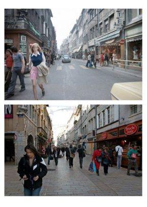 Besançon (France), ville pionnière de la piétonisation. Lien: https://www.facebook.com/media/set/?set=a.150246711746295.25100.142901145814185&type=3